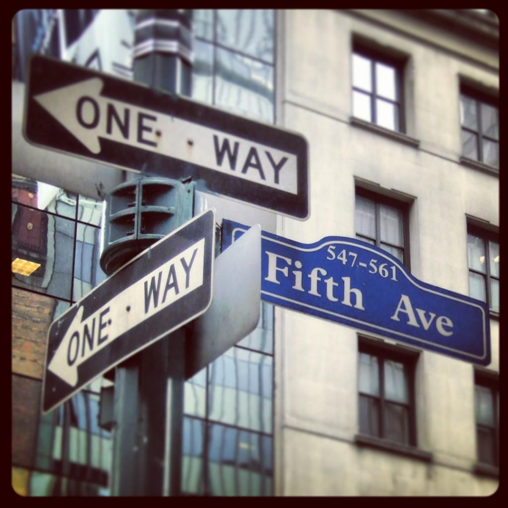 One way on 5th Ave    Tim Wullbrandt