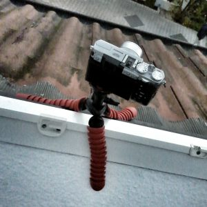Fuji X30 auf dem Dach