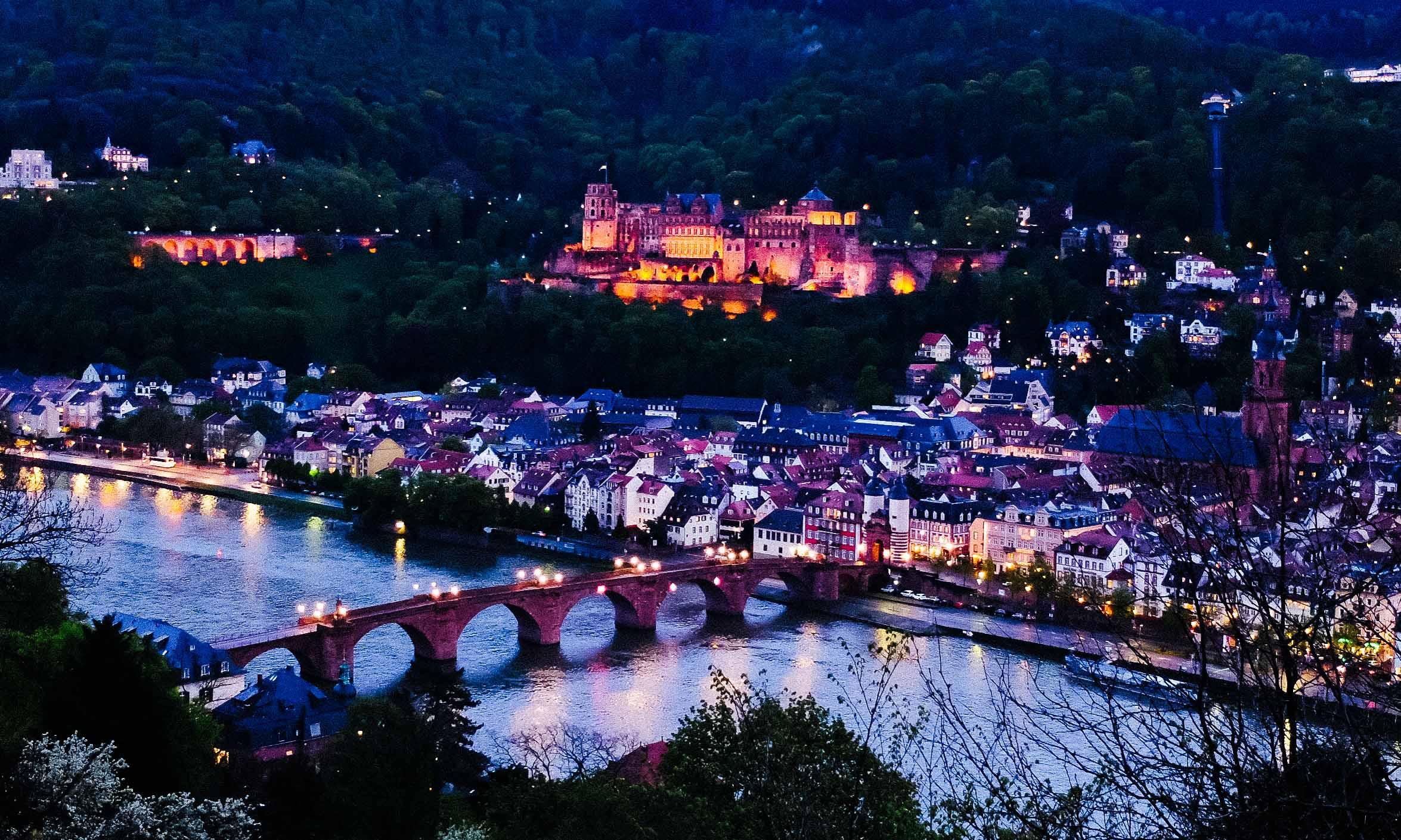 Heidelberg vom Philosophenweg aus
