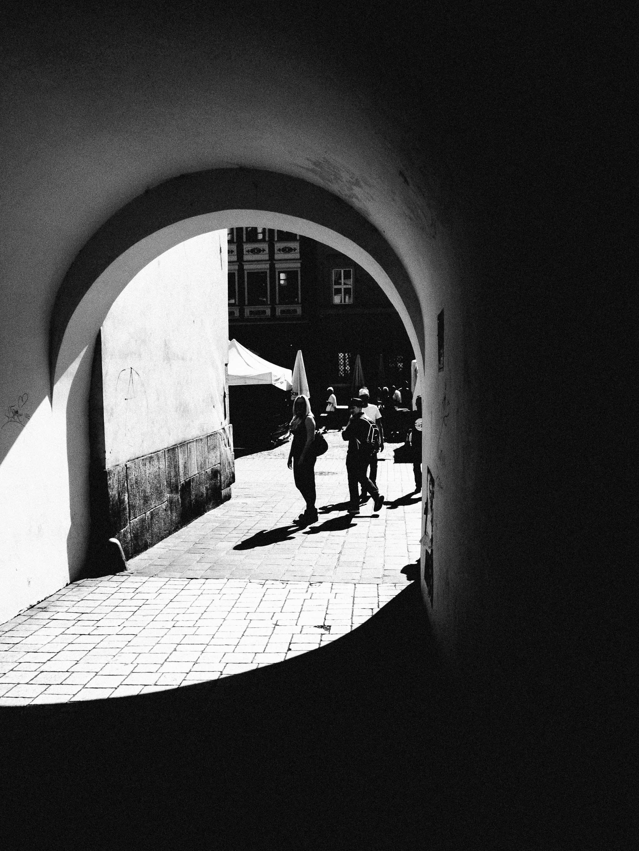Schatten in Krakau