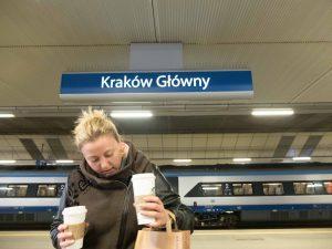 Zug zum Flug in Krakau