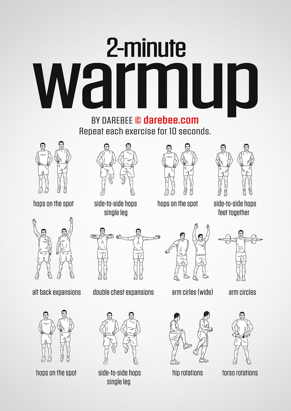 Das 2-Minuten WarmUp-Workout