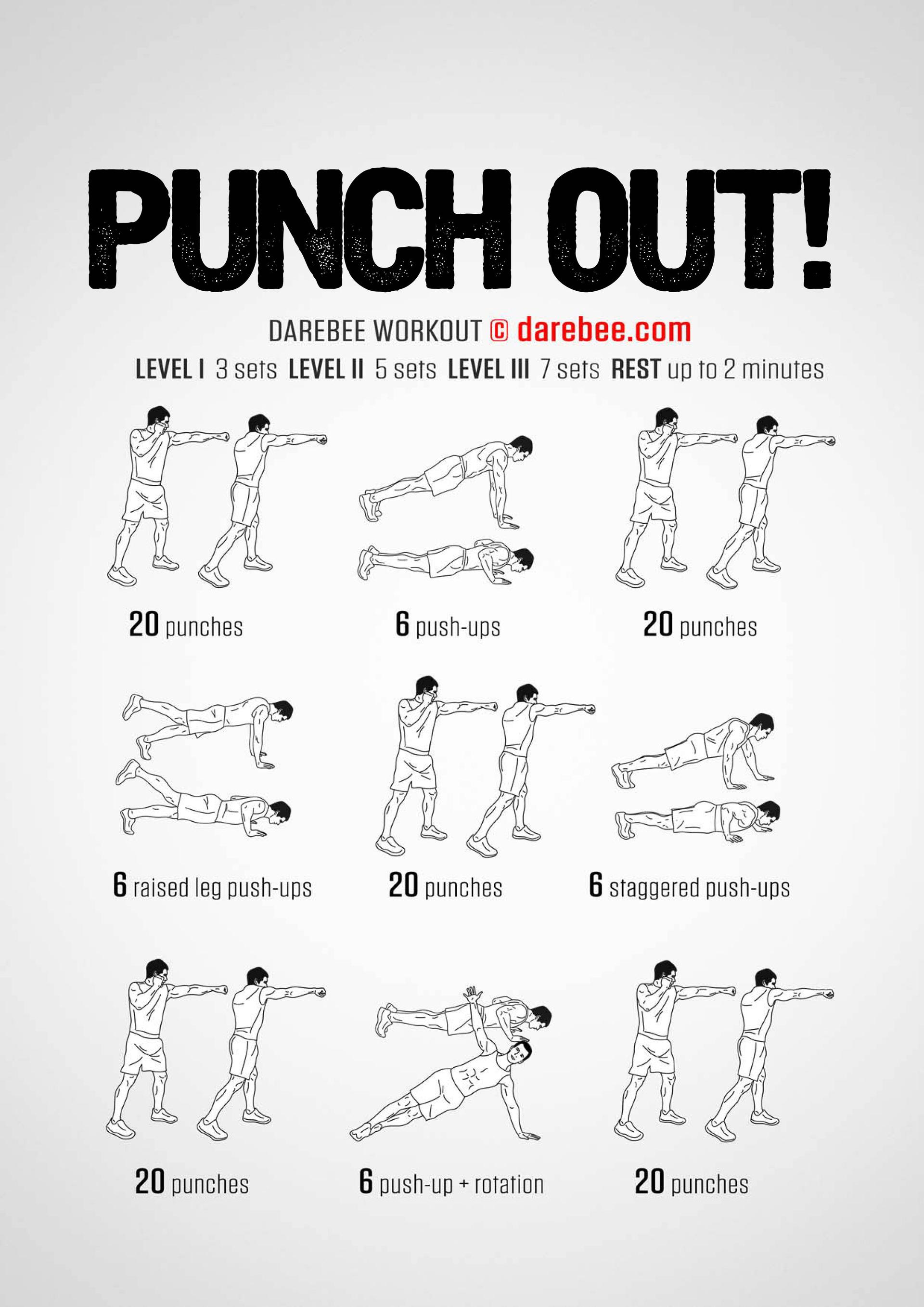 Punch Out! Workout by darebee.com