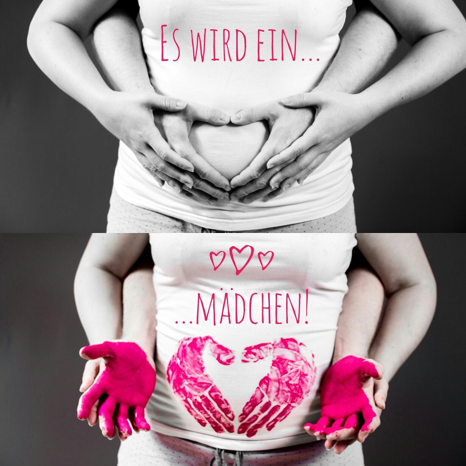 Babybauchfoto - welches Geschlecht