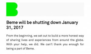 BEME schließt im Januar