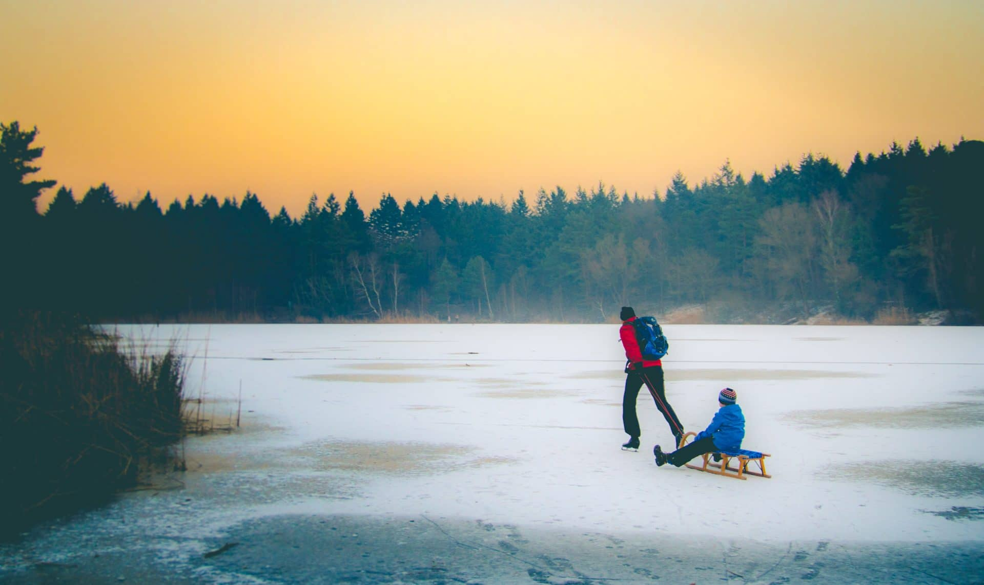 Der Waldsee in Walldorf (Baden) im Winter by Tim Wullbrandt Photograwphy