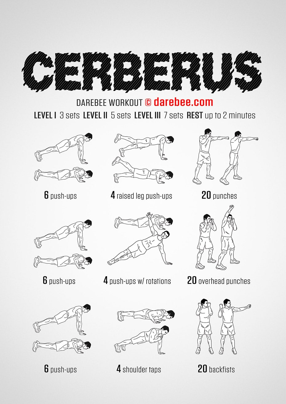 Cerberus Workout by Darebee